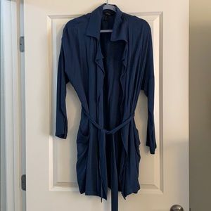 Navy Long Blazer